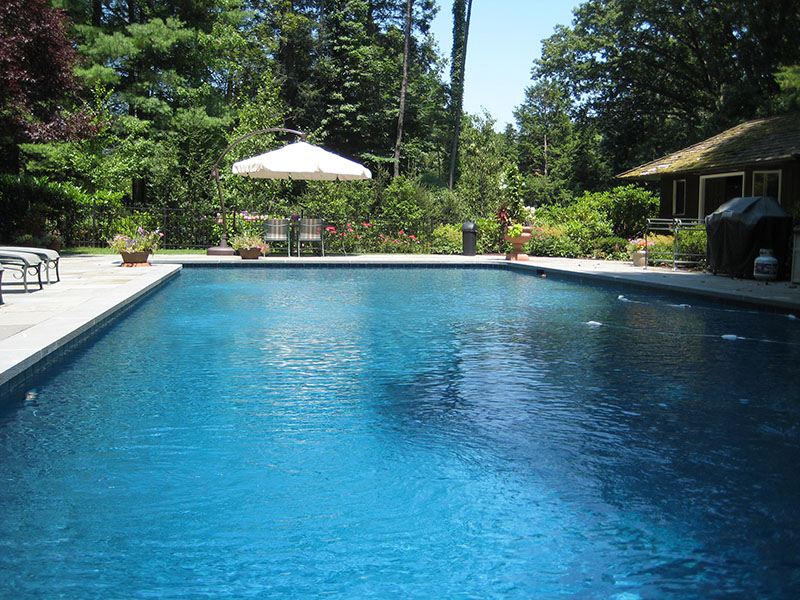 large beautiful pool landscaping