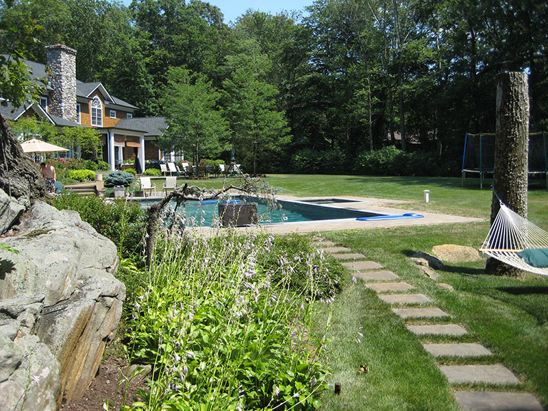 beautiful backyard with swimming pool